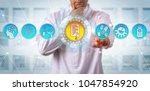 unrecognizable male...   Shutterstock . vector #1047854920