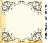 retro baroque decorations...   Shutterstock .eps vector #1047856783
