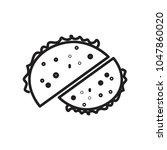 donuts icon vector   Shutterstock .eps vector #1047860020