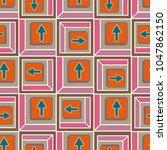 seamless abstract pattern with... | Shutterstock .eps vector #1047862150