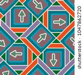 seamless abstract pattern with... | Shutterstock .eps vector #1047862720