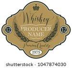 vector label for whiskey in the ... | Shutterstock .eps vector #1047874030