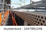 mechanical equipment  fin fan... | Shutterstock . vector #1047881248