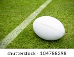 Rugby Ball Near Try Line On...