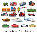 transportation icons collection ... | Shutterstock .eps vector #1047897943