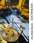 bitcoin mining concept ...   Shutterstock . vector #1047898204