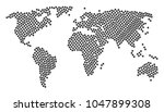 geographic map concept done of... | Shutterstock .eps vector #1047899308