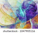 abstract fractal background 3d... | Shutterstock . vector #1047905116