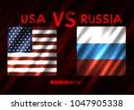 usa vs russia conflict. square... | Shutterstock .eps vector #1047905338