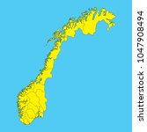 map of norway isolated on a... | Shutterstock .eps vector #1047908494
