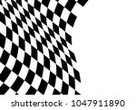 Checkered Flag Wave On White...