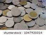 close up thai baht coins ...   Shutterstock . vector #1047920314