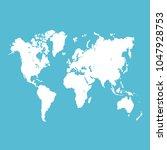 world map vector. | Shutterstock .eps vector #1047928753