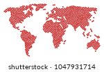 geographic map mosaic designed... | Shutterstock .eps vector #1047931714