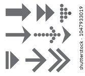 gray arrows set isolated on a...   Shutterstock .eps vector #1047933019