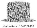 gentleman hat collage of dollar ... | Shutterstock .eps vector #1047938458