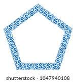 contour pentagon composition of ...   Shutterstock .eps vector #1047940108