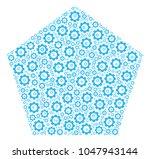 filled pentagon mosaic of gear...   Shutterstock .eps vector #1047943144