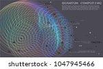 quantum computing  deep... | Shutterstock .eps vector #1047945466