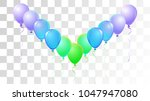 helium balloons realistic... | Shutterstock .eps vector #1047947080