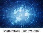 2d illustration network... | Shutterstock . vector #1047953989