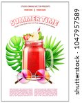 summer time cocktail party... | Shutterstock .eps vector #1047957589