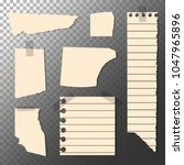 set of torn sheets  piece of... | Shutterstock .eps vector #1047965896