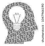 intellect bulb mosaic of... | Shutterstock .eps vector #1047966190