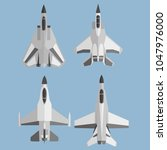 usa modern fighter plane vector ... | Shutterstock .eps vector #1047976000