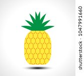 pineapple icon symbol design... | Shutterstock .eps vector #1047991660