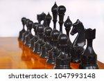 chessmen on the board   Shutterstock . vector #1047993148