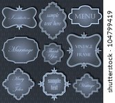 collection of vintage frame on...   Shutterstock .eps vector #104799419