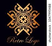 vintage ornamental logo... | Shutterstock .eps vector #1047995488