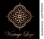 vintage ornamental logo... | Shutterstock .eps vector #1047995494