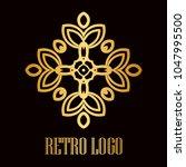 vintage ornamental logo... | Shutterstock .eps vector #1047995500