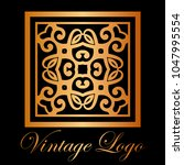 vintage ornamental logo... | Shutterstock .eps vector #1047995554