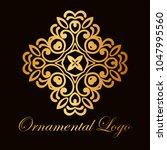 vintage ornamental logo... | Shutterstock .eps vector #1047995560