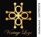 vintage ornamental logo... | Shutterstock .eps vector #1047995578