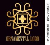 vintage ornamental logo... | Shutterstock .eps vector #1047995584