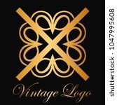 vintage ornamental logo... | Shutterstock .eps vector #1047995608