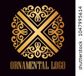 vintage ornamental logo... | Shutterstock .eps vector #1047995614