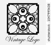 vintage ornamental logo... | Shutterstock .eps vector #1047995638