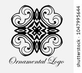 vintage ornamental logo... | Shutterstock .eps vector #1047995644