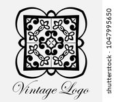 vintage ornamental logo... | Shutterstock .eps vector #1047995650