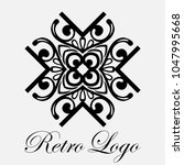 vintage ornamental logo... | Shutterstock .eps vector #1047995668