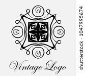 vintage ornamental logo... | Shutterstock .eps vector #1047995674