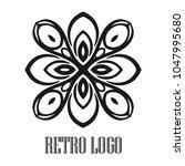 vintage ornamental logo... | Shutterstock .eps vector #1047995680