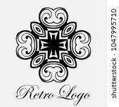 vintage ornamental logo... | Shutterstock .eps vector #1047995710