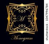 vintage ornamental logo... | Shutterstock .eps vector #1047996784