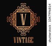 vintage ornamental logo... | Shutterstock .eps vector #1047996814
